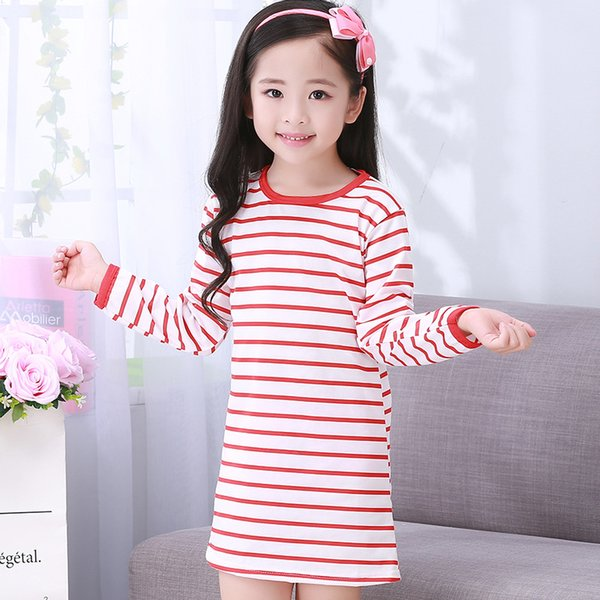 2018 Floral Girls Sleepwear Dress Cotton Lace Pajamas For Girls Princess Children Tracksuits Nightgown Children Clothes
