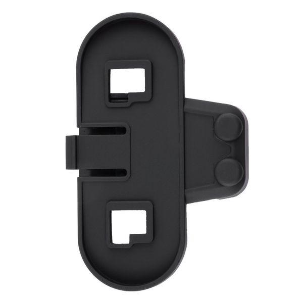 Black ABS Waterproof Bracket/Clip Holder for 1000M BT bluetooth motorcycle Motorbike helmet intercom Headset