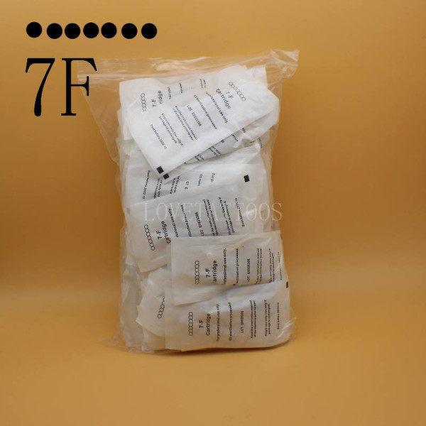 50pcs/lot 7F Eyebrow Tattoo Needle Disposable Steriliized Cartridge needles for Nouveau contour digital permanent makeup machine