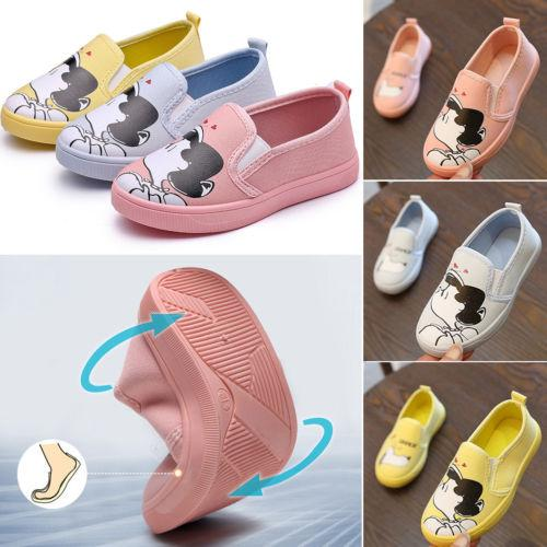 f53426f75876 New Baby Kids Girls Fashion Youth Classic Low Top Canvas Tennis ...