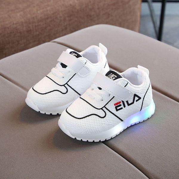 Nova moda venda quente legal crianças sapatos de malha bonito moda Athleticoutdoor crianças shoes LED lazer bebê meninas meninos sapatos calçado