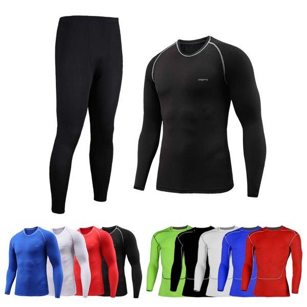 Calças de corrida dos homens novos de corrida calças justas de compressão ginásio de fitness sportswear formação yoga calças para homens