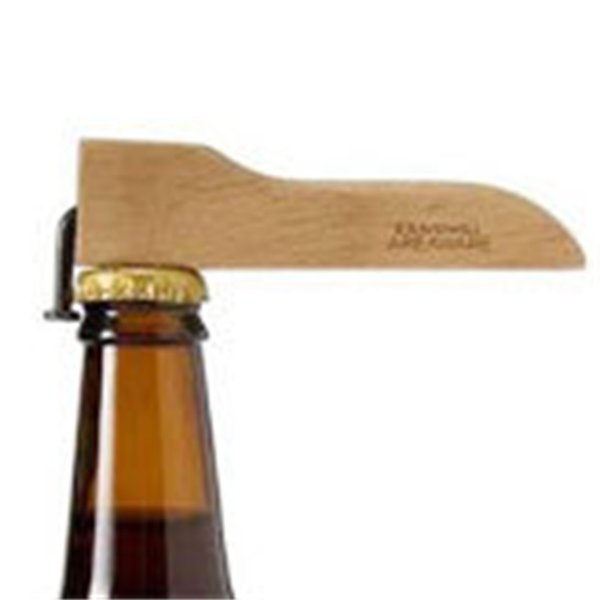 Creative Magnet Beer Bottle Corkscrew Coke Juice Beverages Opener Wooden Handle With Nail Design Environmental Practical 6mh Y
