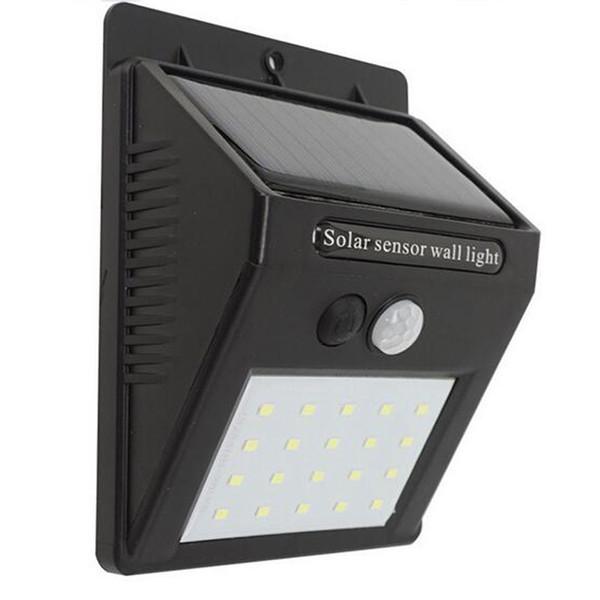 Acheter 20 LED Lumière Solaire IP65 Étanche Détecteur De Mouvement LED  Lampe Solaire Panneaux Solaires Alimentation Éclairage Jardin Lumière ...