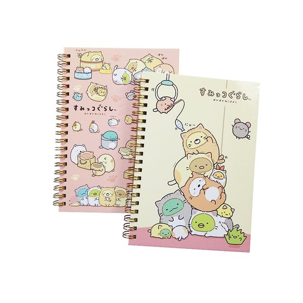 4Pcs/lot New Lovely fresh NotRilakkuma & Sumikkogurashi Diary Sprial Coil Journal nice gift prize Book Memo