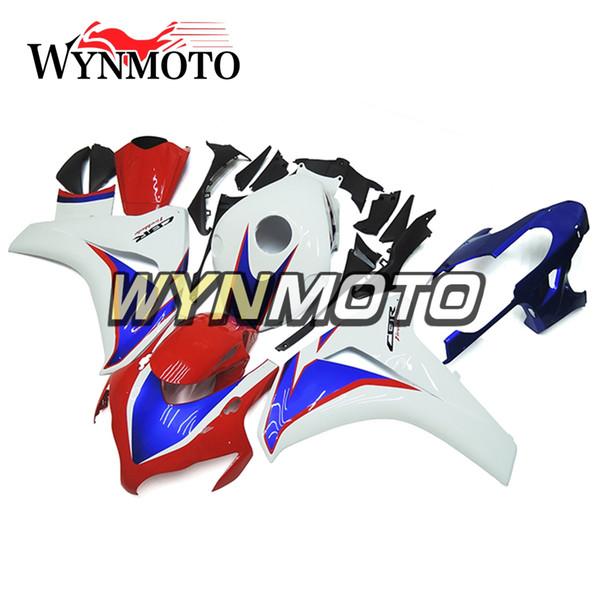 Kit completo di carenatura per motocicli in plastica ABS bianco rosso blu per Honda CBR1000RR CBR 1000RR 2008 2009 Kit di protezioni per carrozzeria 2011