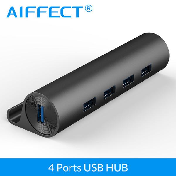 AIFFECT 4 Porto de Alumínio Superspeed USB3.0 HUB com Micro USB Power Port Telefone Suporte OTG Função Hub de Transmissão de Dados para o Telefone
