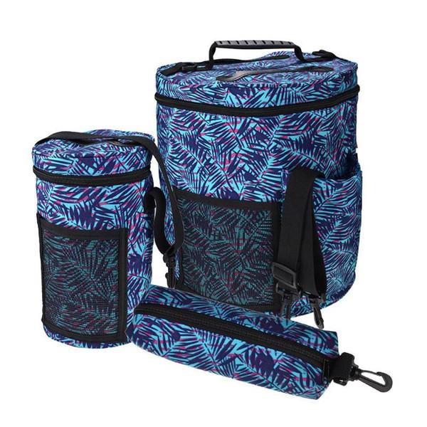3 pcs Large Storage Baskets Embroidery Crochet Hook Yarn Knitting Storage Bucket Bag Sewing Kit Bag Pouch Home Organizer