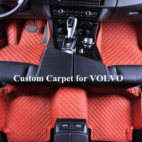 Wholesale Alfombras de piso personalizado para accesorios volvo s90 s80 s60 xc90 xc70 xc60 xc40 alfombras v40 v50 v60 v70 v90 Alfombras Tapete Carro