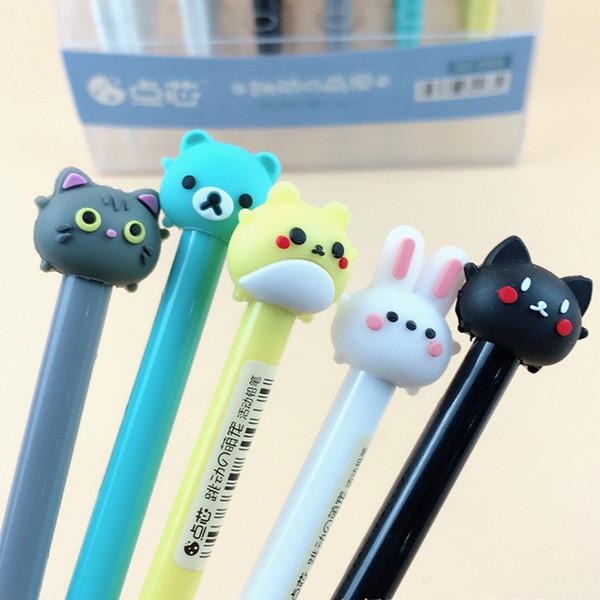 0.5mm Cute Kawaii Rabbit Cat Mechanical Pencil Cartoon Animal Automatic Pens Korean Stationery Free Shipping 2149