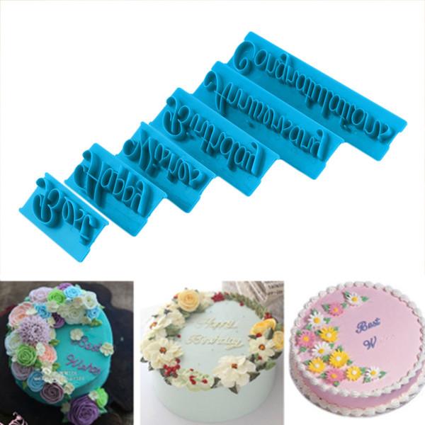 Alphabet Number letter Impress Set cookie biscuit stamp embosser cutter cake fondant DIY Mold decor Hot sale