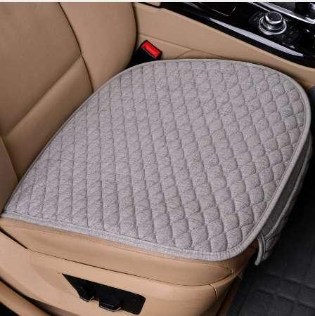 top popular Linen Car Seat Cover Comfortable Front Auto Seat Cushion Non-slip Breathable Protector Mat Pad Four Season Interior Accessories 2019