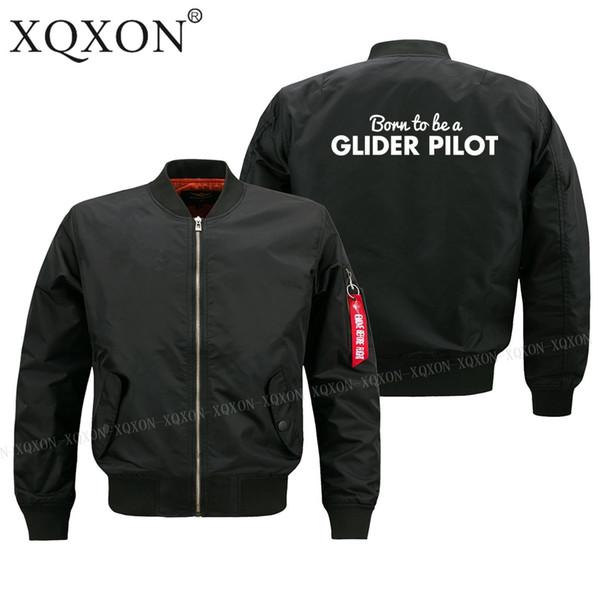 -born per essere un pilota di aliante migliore regalo di compleanno uomini giacca pilota plus size S-6XL uomo Cappotti Giacche J211