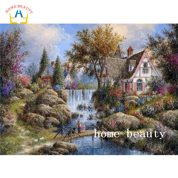 forest house full drill resin diamond on picture diamond painting DIY gift embroidery with diamond home decor living room AC429