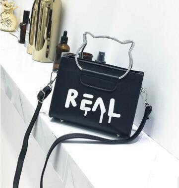 2018 new style small square bag fashionable cat ear handbag Korean version fashionable single shoulder slanted bag mother bun wholesale
