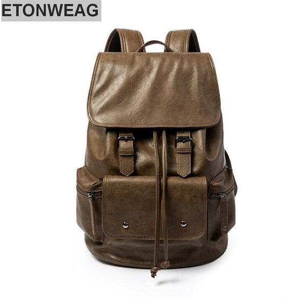 wholesale brand male bag fashion large capacity men's backpack contracted belt decoration student backpack outdoor leisure travel backpack