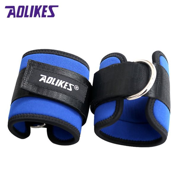 2018 1pc Leg Training Weight Plus Force Foot Ring Buckle Adjustable Ankle Protector Leg Anchor Strap Pad Tubes Exercise Strength