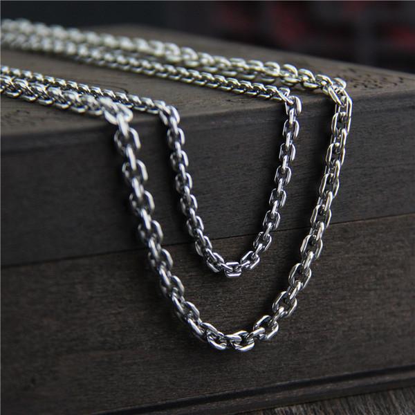collier argent 80 cm