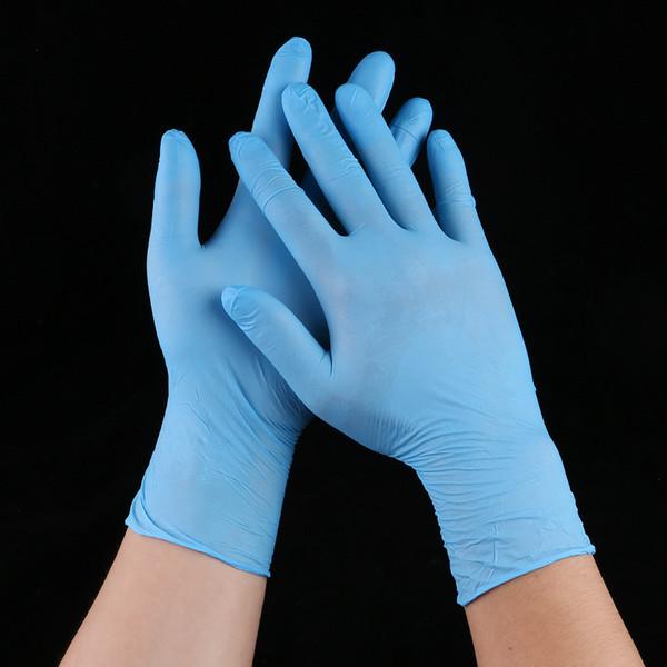 Kauçuk Temizleme Eldiven Toz Ücretsiz Nitril Lateks Eldiven Tek Kullanımlık Anti-skid Asit Sınav Uygun Dispenser Nitril Eldiven WX9-577