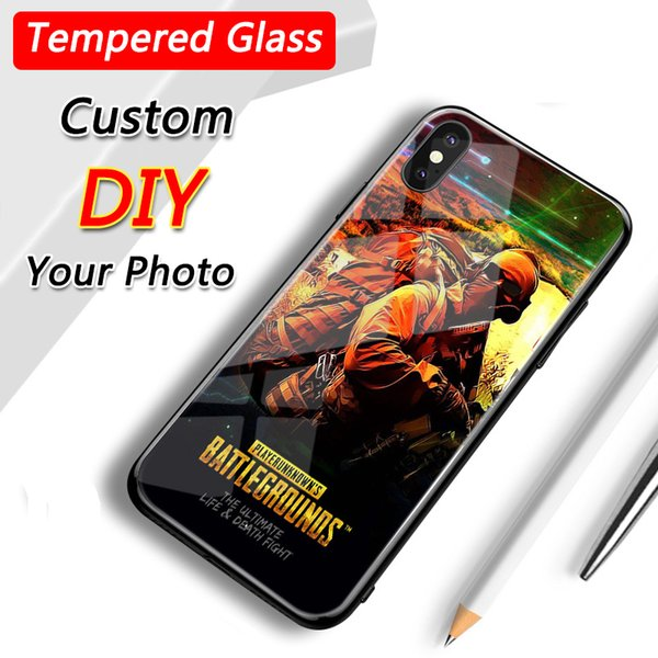 Huawei y9 2018 p20 pro Honor 9 Tempered Glass Photo Custom Phone Cases for Iphone Models Customize Phone Back Cover Samsung Xiaomi Vivo Oppo
