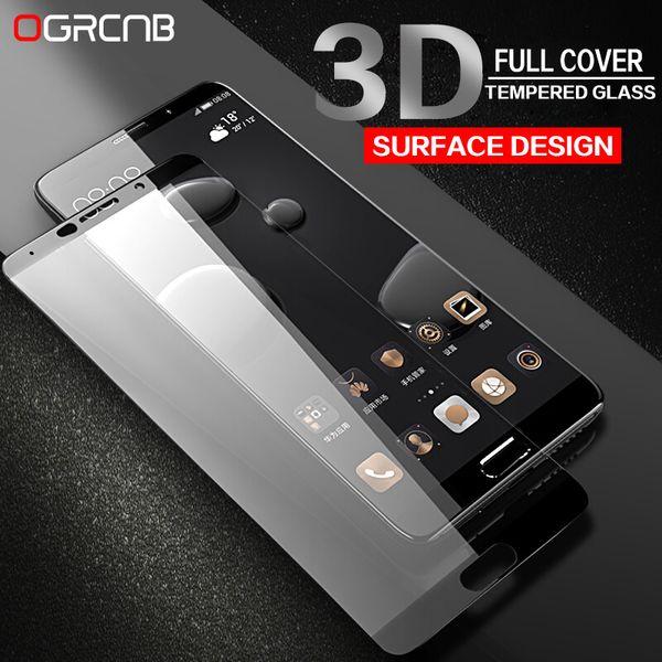 Vidrio templado 9H para Huawei P10 Lite P10 Plus Protector de pantalla de cubierta completa para Huawei honor 9 V9 Mate 9 10 Vidrio templado