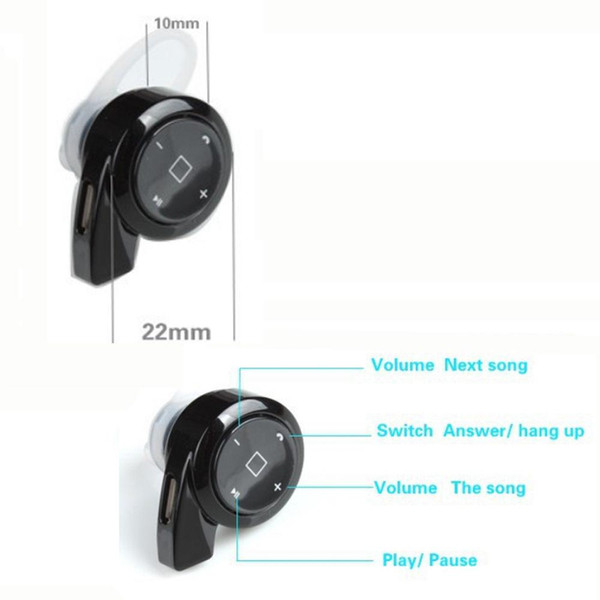 mini wireless bluetooth 4.0 headset stereo earphone headphone for iphone samsung e16 2018 new arrival
