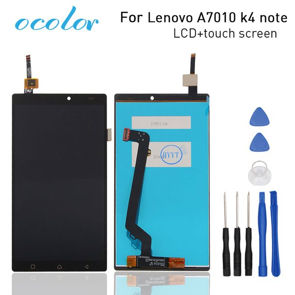 ocolor For Lenovo A7010 LCD Display and Touch Screen Screen Replacement With Tools For Lenovo A7010 k4 note High Quality