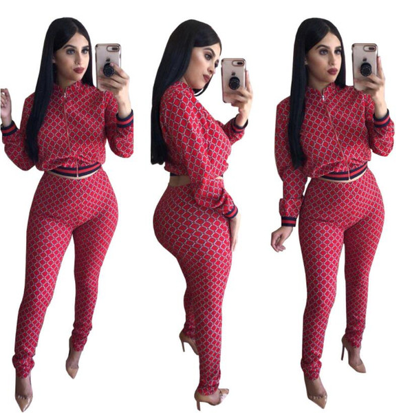 Womens Tracksuits Fashion Panelled Striped jacket tops pants set Casual Two-Piece sets Women's Sport suits sportswear autumn ladies suit