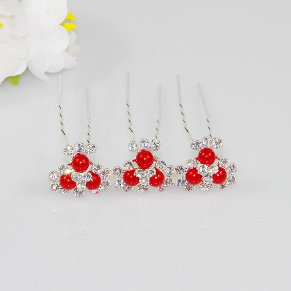 5pcs mariage épingles à cheveux fleur de cristal strass pinces à cheveux demoiselle d'honneur bijoux bijoux livraison gratuite