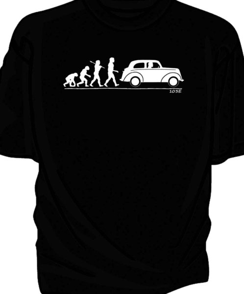 Details zu Evolution of Man classic car t-shirt. Ford Popular 103E pop Funny free shipping Unisex Casual gift
