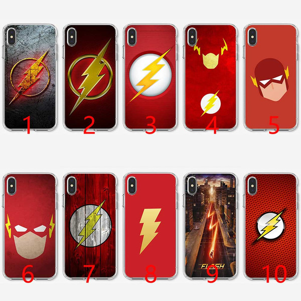 Flash Man Superhero Soft Silicone TPU Phone Case for iPhone 5 5S SE 6 6S 7 8 Plus X XR XS Max Cover
