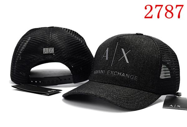 Gorra de malla A / X de béisbol sombreros al aire libre Sombrero de camionero en blanco para adultos Sombreros del Snapback Sombreros de marca de primera calidad Amantes del tenis Gorra de 6 paneles.