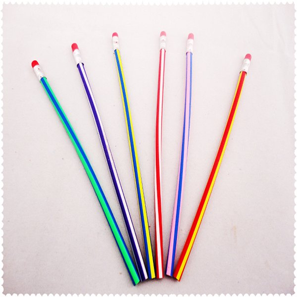 Flexural deformation of Korean soft pencils Standard Pencils Cute Candy Color Student Stationery Office supplies learn supplies