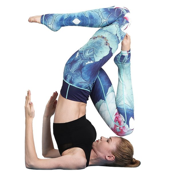 Women Sexy Yoga Pants Printed Dry Fit Sport Pants Elastic Fitness Gym Pants Workout Running Tight Sport Leggings Female Trousers Hot product