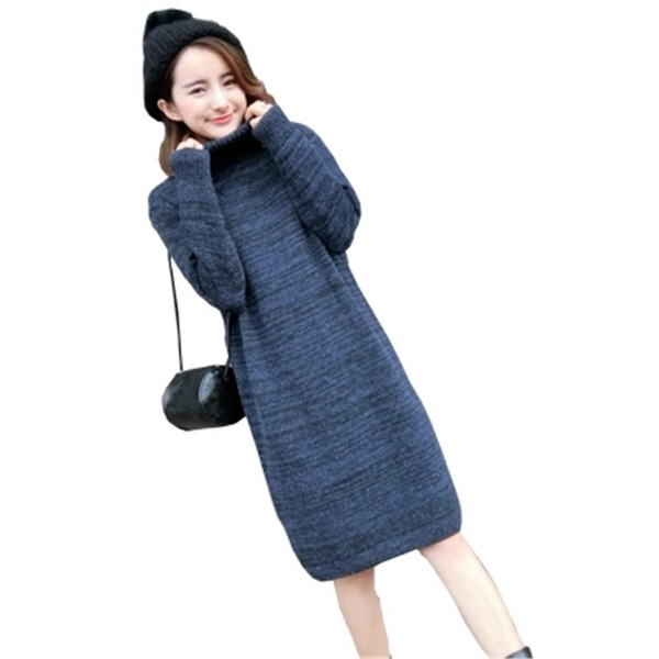Oversize Cashmere Wool Sweater Women Dress Long Warm Turtleneck Sweater  Women Autumn Winter Female Knitted Pullovers Pull Femme a3e125d1c
