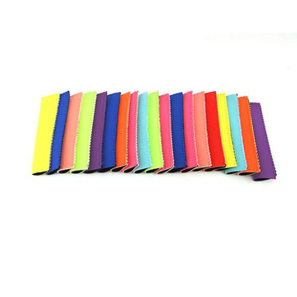 best selling Wholesale Popsicle Holders Pop Ice Sleeves Freezer Pop Holders 15x4.2cm for Kids Summer Kitchen Tools