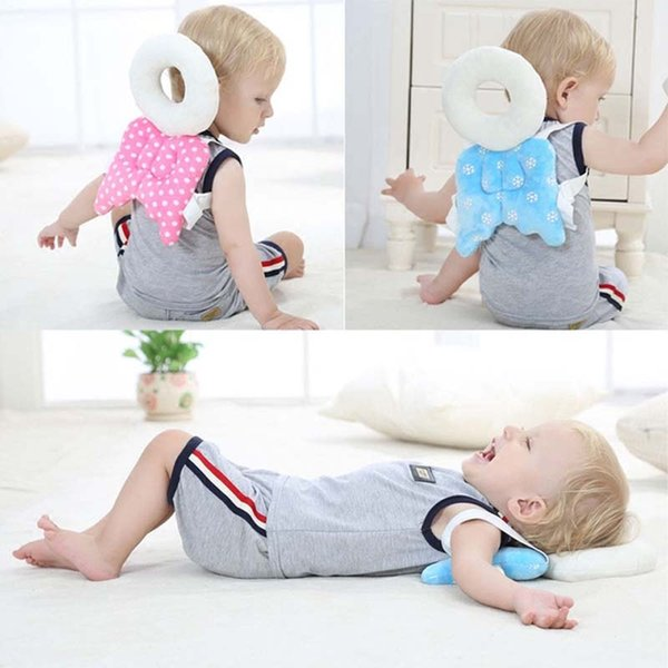 best selling Baby Head Protection Pad Cute Wings Anti Crash Fence Angel Style Cotton Prevent Toddler Fall Down Baby Learn to Walk Protection