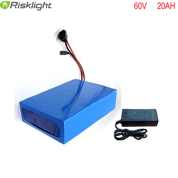 no taxes 60v 2000w ebike battery pack 60v 20ah electric bicycle battery scooter e-bike 18650 lithium ion battery with charger