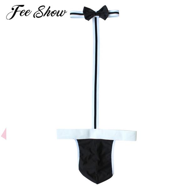 Gay Men Underwear Borat Costume Swimsuit Swimwear Sexy Mens Underwear Thong Borat Costume Play Waiter Gay Men Lingerie