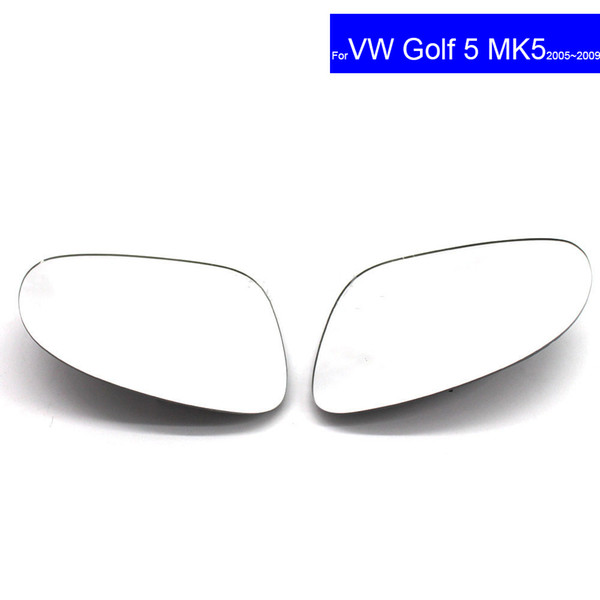 Replacement Lens Car Side Rear View Mirror Convex Glass forVolkswagen Golf MK5 2006~2009 Auto Clip Heated Wing Door Mirror Glass