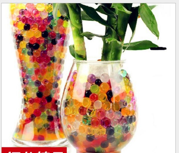 Colorful Pearl Shaped Crystal Soil Water Beads Balls Deco Crystal Mud Boll Crystal Plant Soil Beads 2.5mm 3g