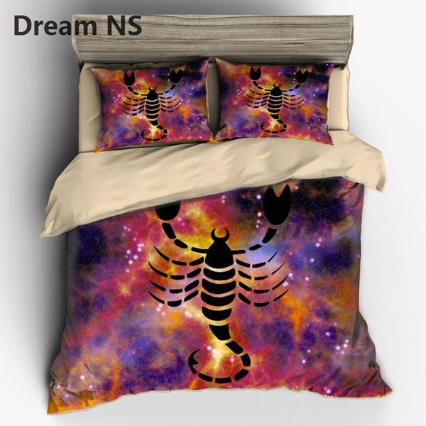 AHSNME 12 Constellation Scorpio Pattern Bedding Set Chic Design Bedspreads Australia Duvet Cover US EU AU Size King Bed set
