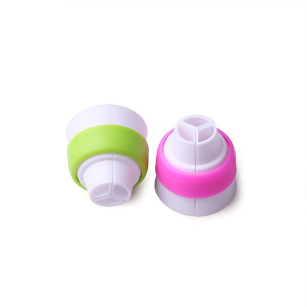 Cupcake Decorating Mouth Three Color Coupler 3 Colors Russia Piping Mouth Converter Food-grade Plastic Baking Supplies