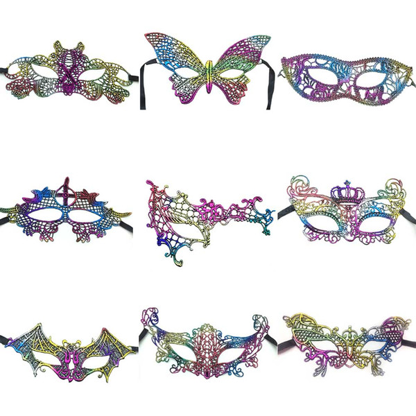 10Pcs Sexy Halloween Colorful Lace Goggles Nightclub Fashion Queen Female Sex Eye Masks For Masquerade Party Masks Ball Mask