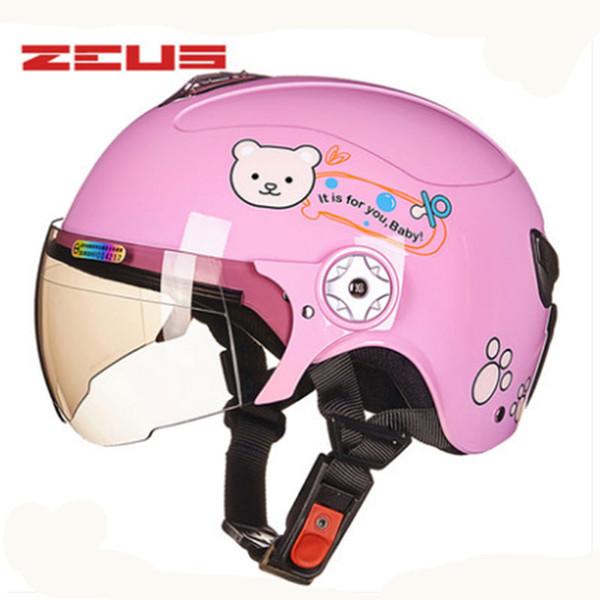 ZEUS Motorcycle Parent-child Helmet Protective Gear Children Motorcycle Helmet Easy Clasp Closure Bike ABS 45-52 54-57