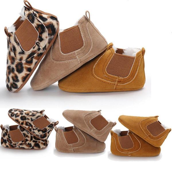 Moda inverno bambino primi camminatori bambino appena nato in pelle morbida suola greppia scarpe bambino ragazzi ragazze calde scarpe da ginnastica stampa leopardo