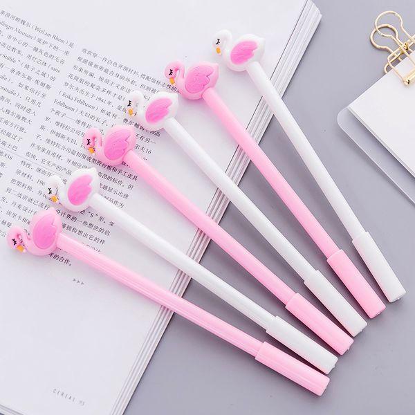 Estudiantes Fresh Style Cartoon Flamingo Design Flamingo Gel Pen Super Cute estilo coreano estilográficas para escritorio decoración 0 65dc Z