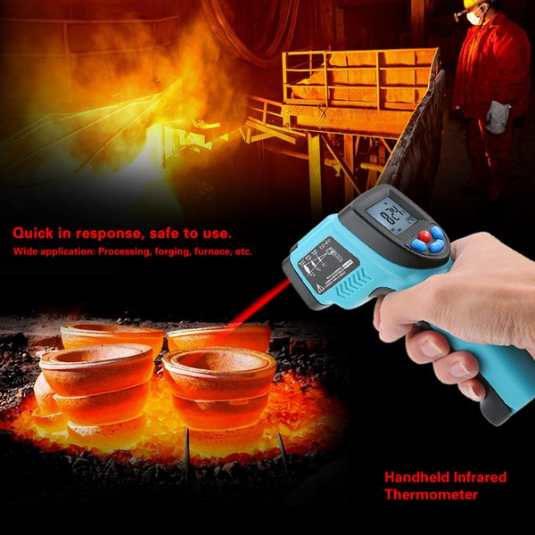 GM550 Digital Infrared IR Thermometer Temperature Tester Pyrometer LCD Display +Backlight -50~550 Centigrade Degrees