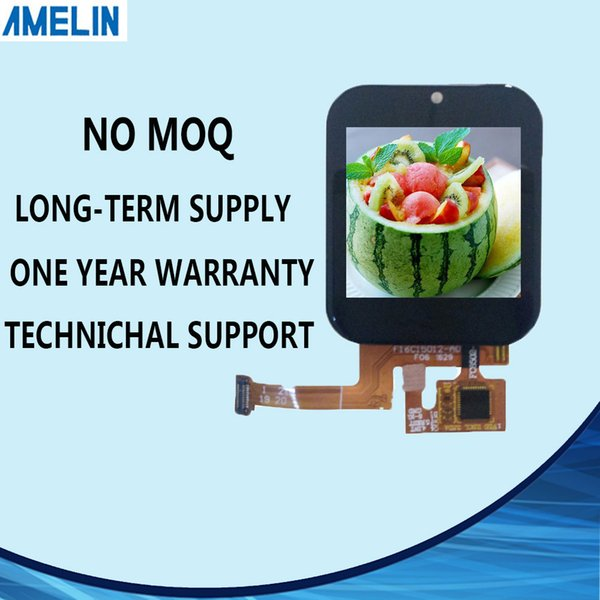AML-B16C15012Q 1.54 inch 320*320 tft lcd module touch panel with IPS viewing angle Display and MIPI interface screen