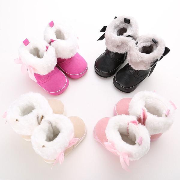 0-18M Infant Toddler Newborn Baby Girl Suela blanda Zapatillas de deporte Zapatillas Wimter